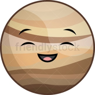 Kawaii planet venus. PNG - JPG and vector EPS (infinitely scalable).