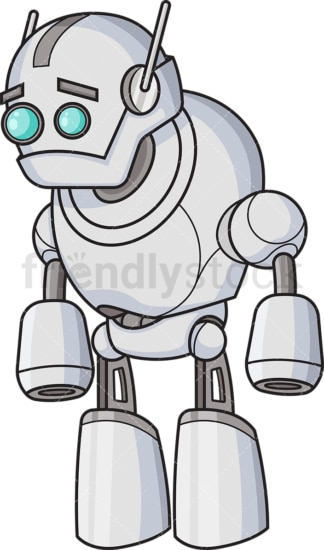 Disappointed robot. PNG - JPG and vector EPS (infinitely scalable).