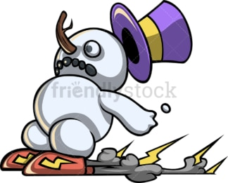 Funny speedrunner snowman. PNG - JPG and vector EPS file formats (infinitely scalable).