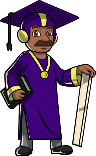 Black teacher superhero. PNG - JPG and vector EPS file formats (infinitely scalable). Image isolated on transparent background.