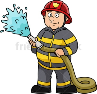 Chubby firefighter. PNG - JPG and vector EPS (infinitely scalable).