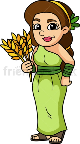 Demeter goddess. PNG - JPG and vector EPS file formats (infinitely scalable). Image isolated on transparent background.