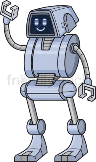 Cheerful robot. PNG - JPG and vector EPS (infinitely scalable).