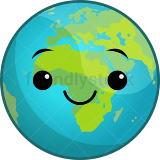 Kawaii planet earth. PNG - JPG and vector EPS (infinitely scalable).