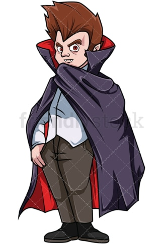 Man in vampire costume. PNG - JPG and vector EPS file formats (infinitely scalable). Image isolated on transparent background.