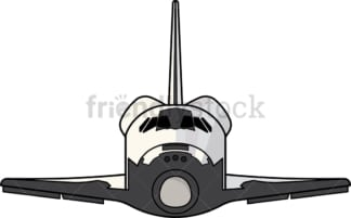 NASA space shuttle front view. PNG - JPG and vector EPS (infinitely scalable).