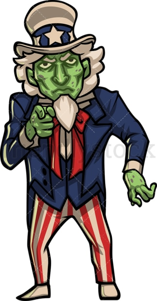 Zombie uncle sam. PNG - JPG and vector EPS (infinitely scalable).