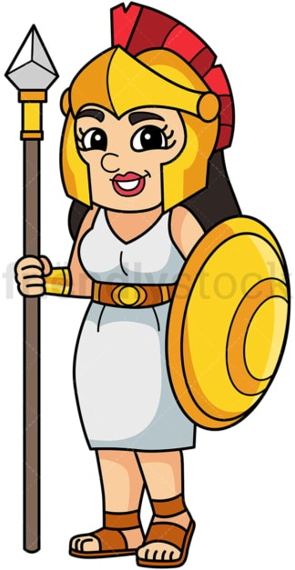 Athena greek goddess. PNG - JPG and vector EPS file formats (infinitely scalable). Image isolated on transparent background.