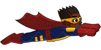 Black kid superhero. PNG - JPG and vector EPS file formats (infinitely scalable). Image isolated on transparent background.