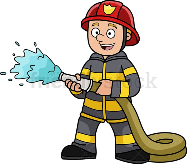 Firefighter kid. PNG - JPG and vector EPS (infinitely scalable).
