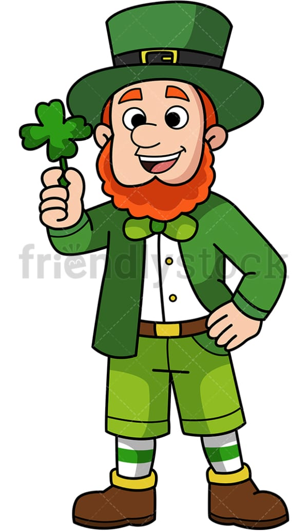 Happy leprechaun. PNG - JPG and vector EPS (infinitely scalable).