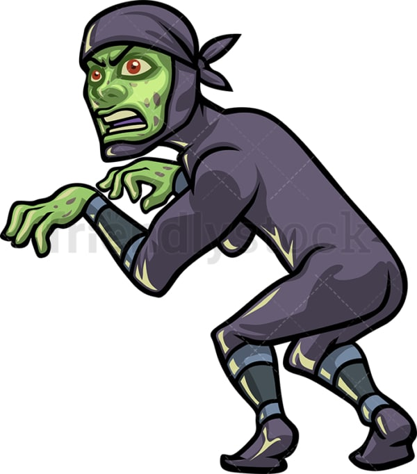 Ninja zombie. PNG - JPG and vector EPS (infinitely scalable).
