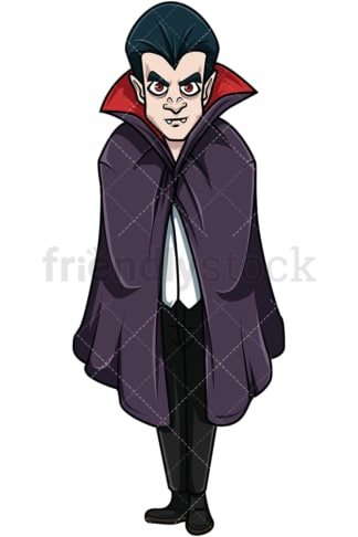 Creepy vampire. PNG - JPG and vector EPS file formats (infinitely scalable). Image isolated on transparent background.