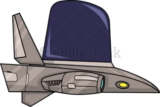 Futuristic spaceship. PNG - JPG and vector EPS (infinitely scalable).