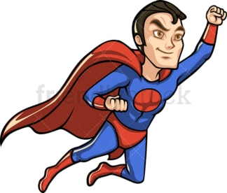 Superhero with cape flying like superman. PNG - JPG and vector EPS (infinitely scalable).