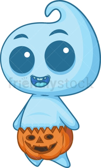 Blue baby ghost. PNG - JPG and vector EPS (infinitely scalable).
