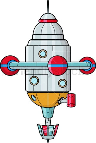 Astronaut On Rocketship Cartoon Clipart Vector - FriendlyStock
