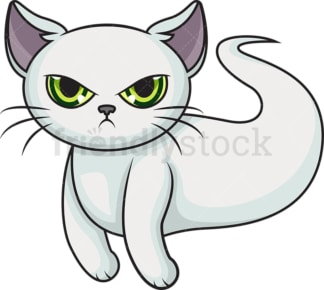 Cute ghost cat. PNG - JPG and vector EPS (infinitely scalable).