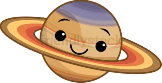 Kawaii planet saturn. PNG - JPG and vector EPS (infinitely scalable).