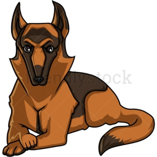 Majestic german shepherd dog. PNG - JPG and vector EPS (infinitely scalable).