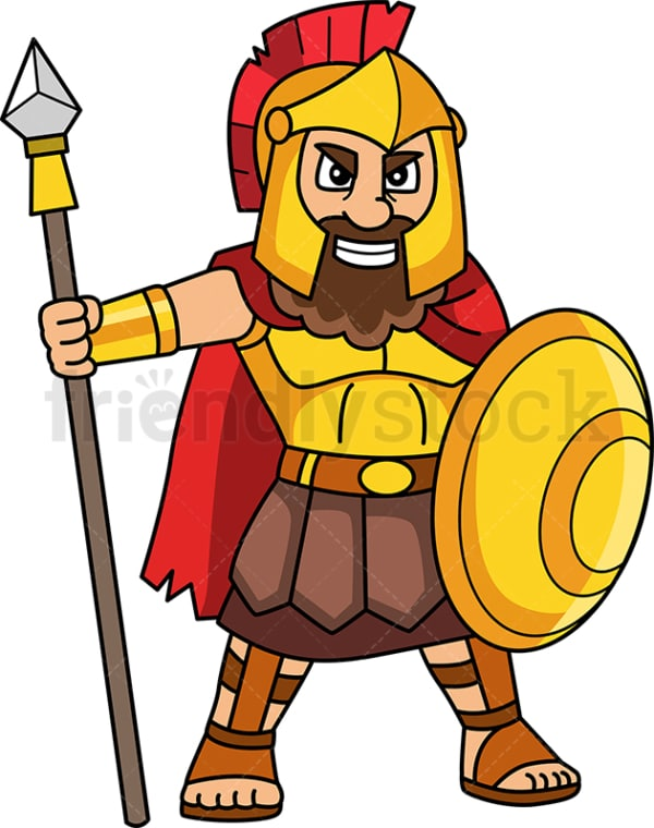Ares greek god. PNG - JPG and vector EPS file formats (infinitely scalable). Image isolated on transparent background.