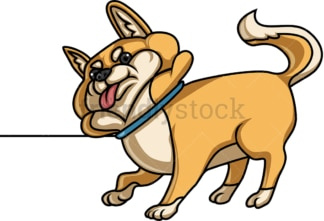 Disobedient dog. PNG - JPG and vector EPS (infinitely scalable).