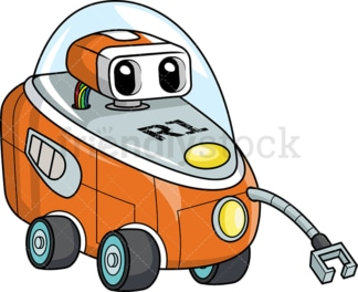 Futuristic land exploration vehicle. PNG - JPG and vector EPS (infinitely scalable).