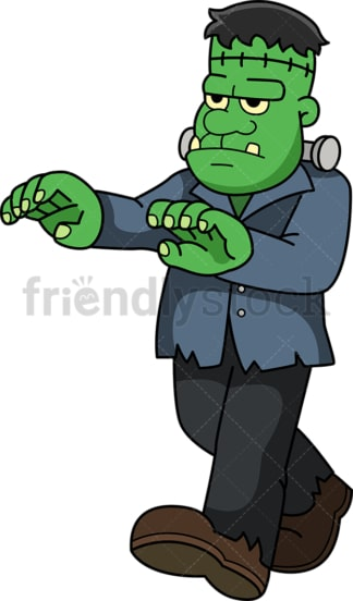 Green frankenstein monster. PNG - JPG and vector EPS (infinitely scalable).