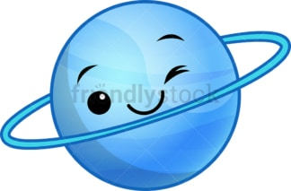 Kawaii planet uranus. PNG - JPG and vector EPS (infinitely scalable).