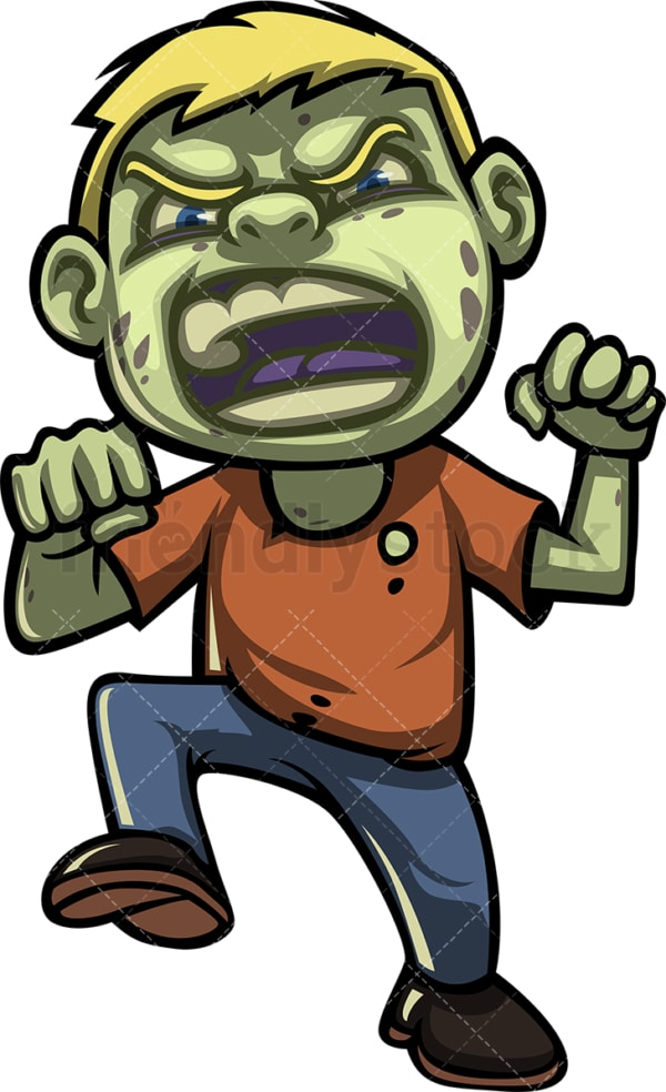 Scary little boy zombie. PNG - JPG and vector EPS (infinitely scalable).