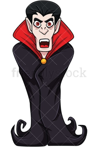 Scary vampire. PNG - JPG and vector EPS file formats (infinitely scalable). Image isolated on transparent background.