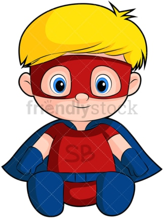 Cute baby boy superhero. PNG - JPG and vector EPS (infinitely scalable). Image isolated on transparent background.