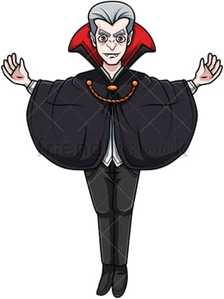 Elder powerful vampire. PNG - JPG and vector EPS file formats (infinitely scalable). Image isolated on transparent background.