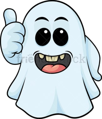 Ghost making thumbs up gesture. PNG - JPG and vector EPS (infinitely scalable).