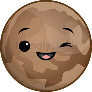 Kawaii planet pluto. PNG - JPG and vector EPS (infinitely scalable).