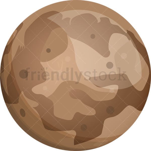 Planet Pluto. PNG - JPG and vector EPS (infinitely scalable).