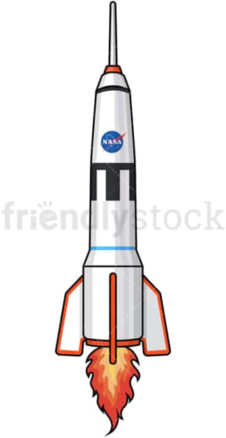Rocketship launching. PNG - JPG and vector EPS (infinitely scalable).