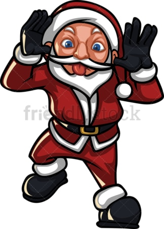 Santa claus mocking someone. PNG - JPG and vector EPS (infinitely scalable).