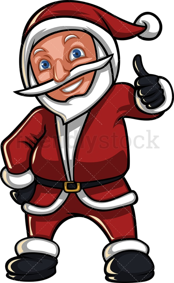 Santa claus giving the thumbs up. PNG - JPG and vector EPS (infinitely scalable). Image isolated on transparent background.