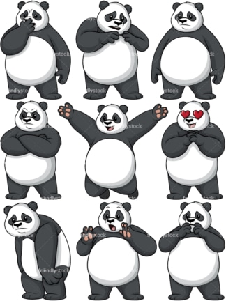 Panda cartoon character. PNG - JPG and vector EPS file formats (infinitely scalable).