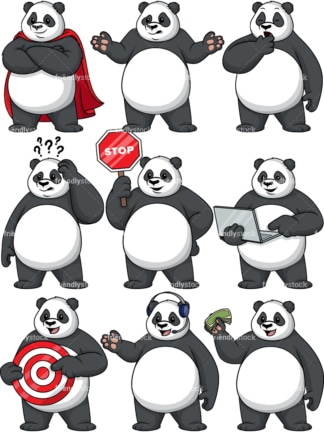 Panda character. PNG - JPG and vector EPS file formats (infinitely scalable).