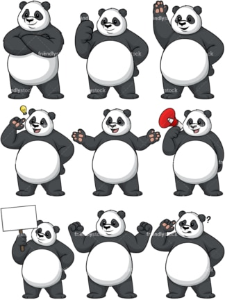 Panda mascot. PNG - JPG and vector EPS file formats (infinitely scalable).