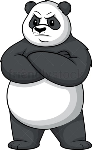 Angry panda. PNG - JPG and vector EPS (infinitely scalable).