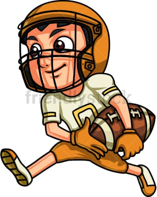 Boy playing american football. PNG - JPG and vector EPS (infinitely scalable). Image isolated on transparent background.