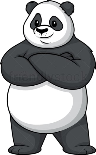 Confident panda. PNG - JPG and vector EPS (infinitely scalable).