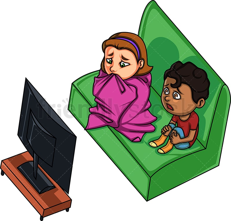 Kid Watching Movie Clip Art - Kid Watching Movie Image |Kids Watching Movie Clipart