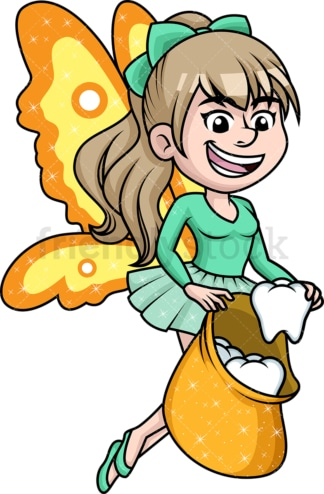 Happy tooth fairy. PNG - JPG and vector EPS (infinitely scalable).