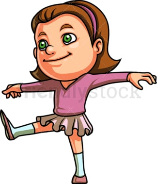 Little girl doing gymnastics. PNG - JPG and vector EPS (infinitely scalable). Image isolated on transparent background.