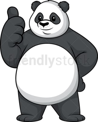 Panda thumbs up. PNG - JPG and vector EPS (infinitely scalable).