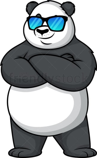 Panda with sunglasses. PNG - JPG and vector EPS (infinitely scalable).
